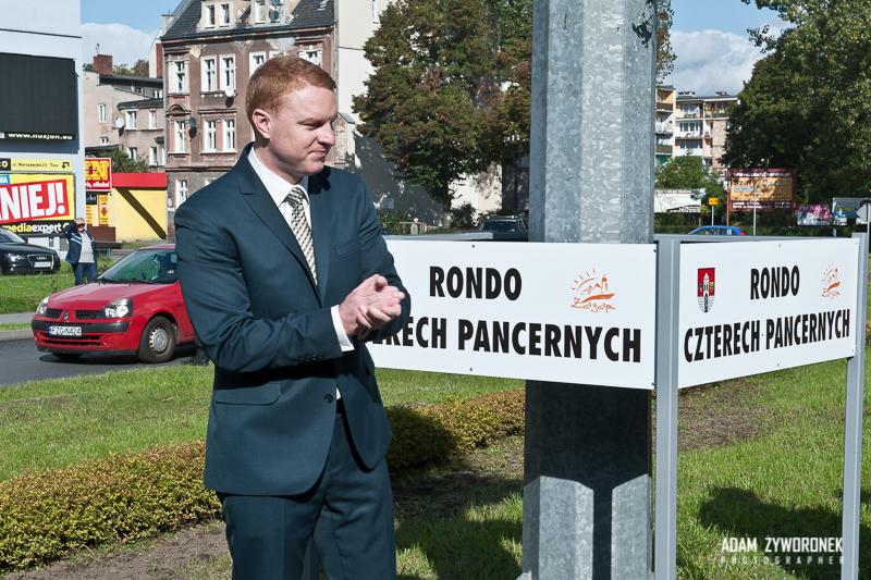 Nadanie imienia Czterech Pancernych dla ronda Żaganiu.