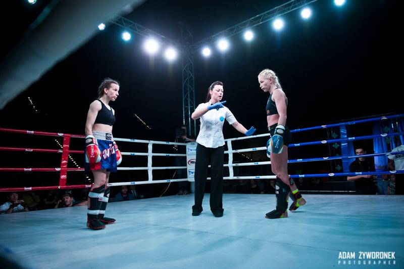 Zawodowa Gala Kick-Boxingu i K1 w Zgorzelcu -Walka E.Czerwińska -K.Kleczkowska