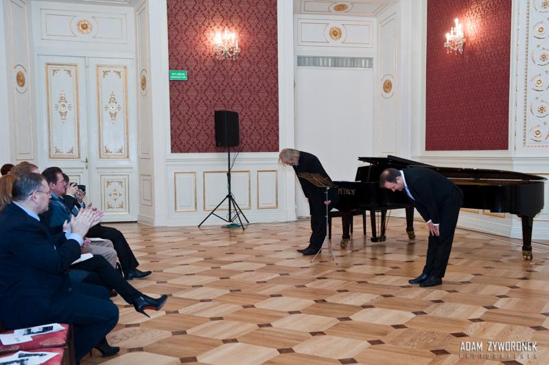 Koncert pieśni włoskich B.Bidziński-S.Deja w Pałacu Książęcym w Żaganiu 26.01.2015r.