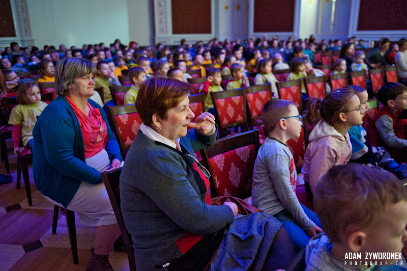 Przedszkolaki na Planie Filmowym w Pałacu w Żaganiu
