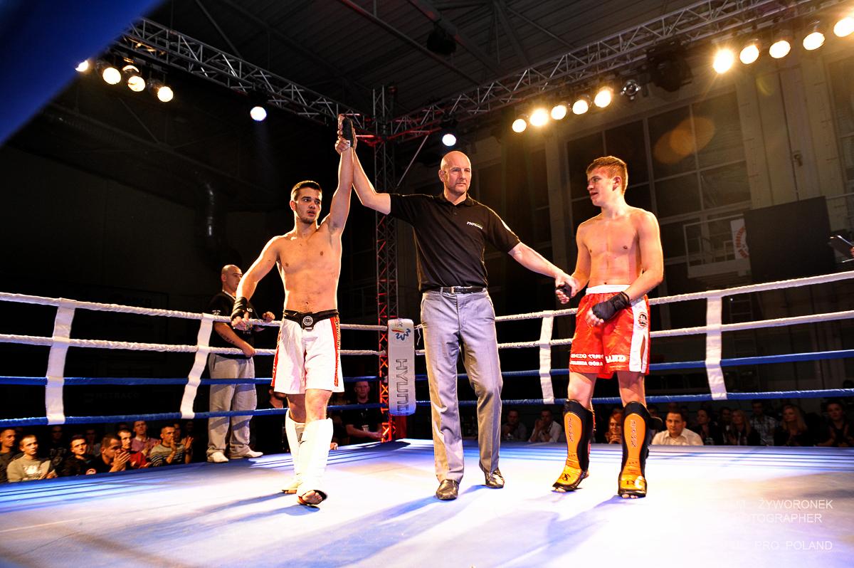 HYUNDAI BOXING NIGHT-walka 2- K.Stemplewski(Shidokan Jelenia Góra )VS M.Buganik (Malinowski Team)