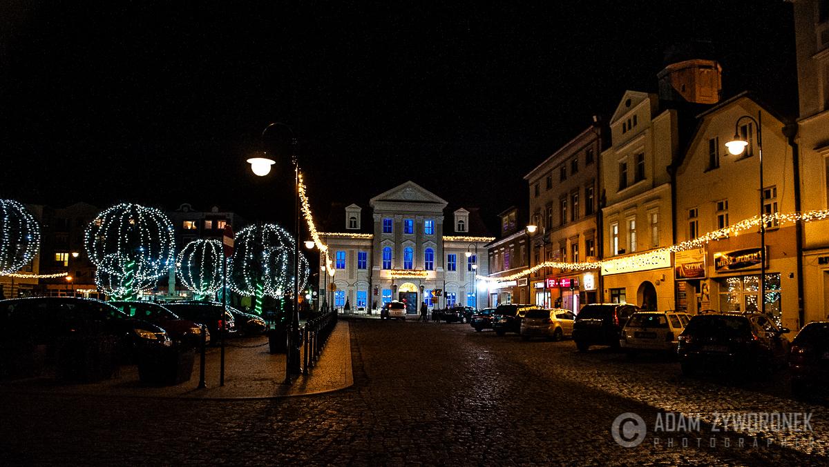 Iluminacje świąteczne w Żaganiu.