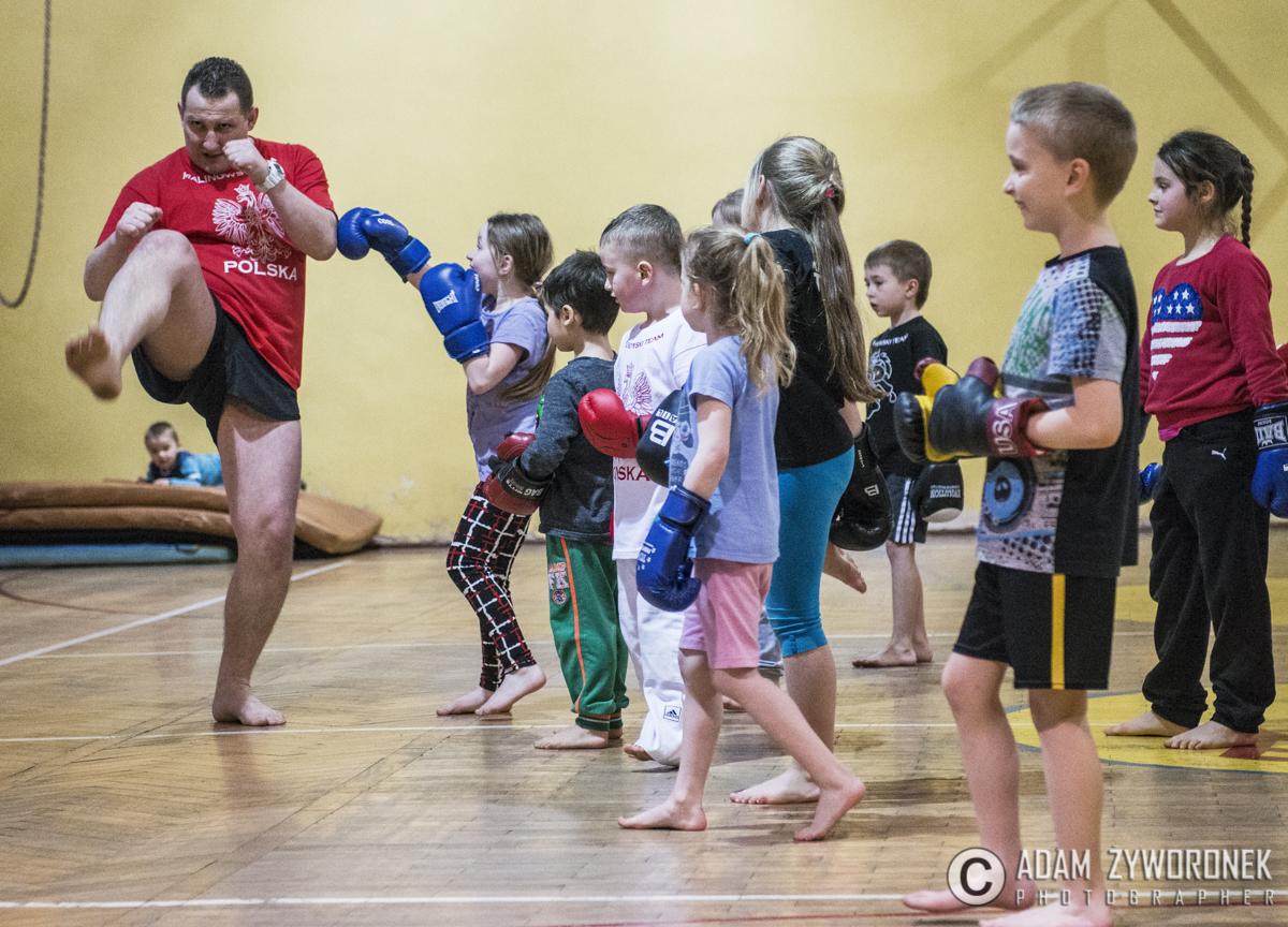 Malinowski Team -trening najmłodszych w Żaganiu.
