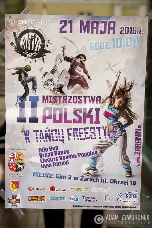 Mistrzostwa Polski Zachodniej w Tańcu Freestyle Battle For Żary 2016