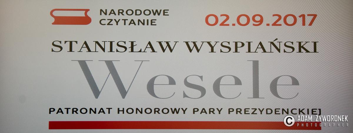 """NARODOWE CZYTANIE """"WESELA"""" STANISŁAWA WYSPIAŃSKIEGO-ŻAGAŃ 2.09.2017"""