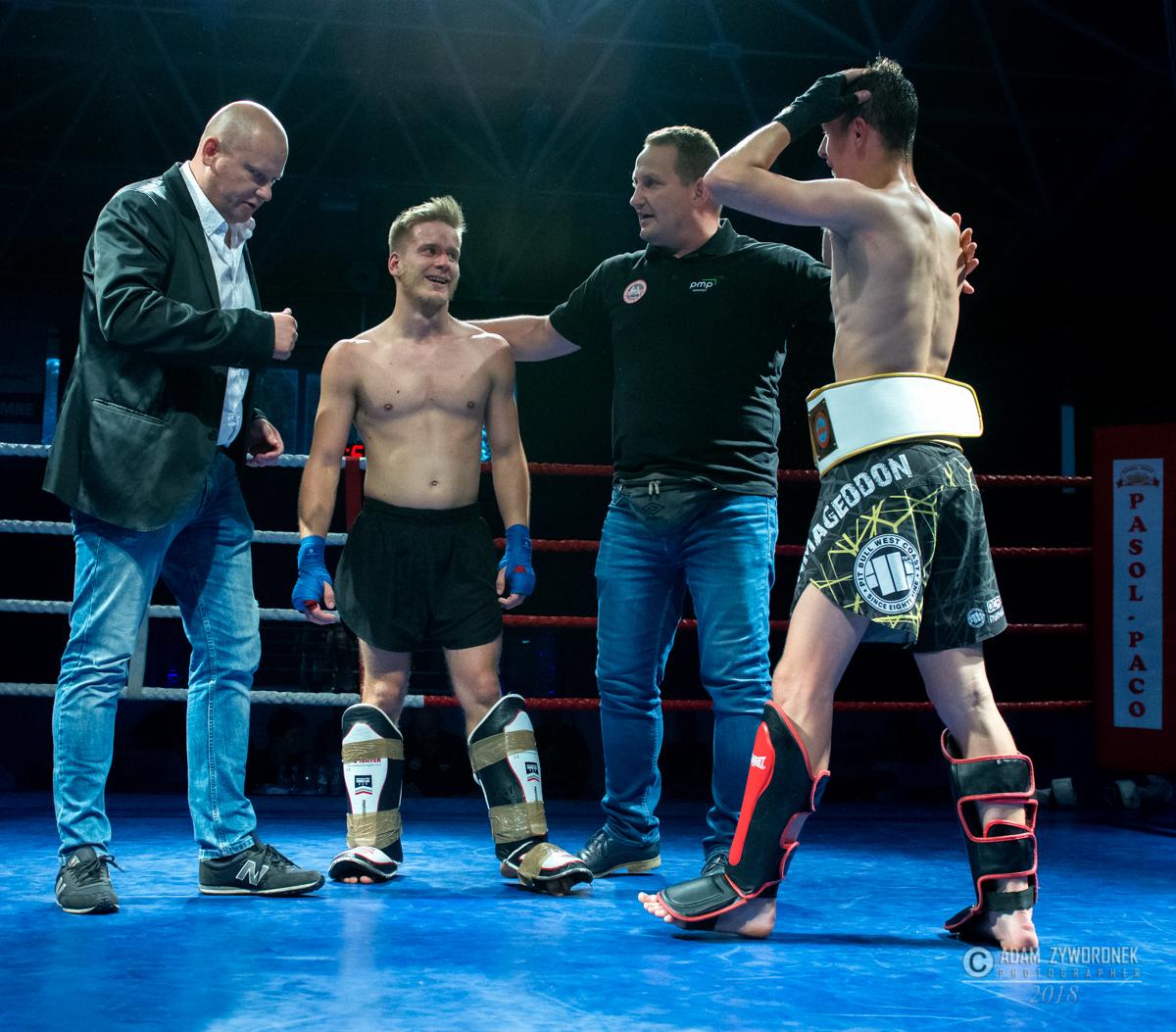 Walka o Mistrza Polski –  pas Wfmc Pro-Am na zasadach K1 w kategorii wagowej -57 kg Patryk Świątek vs Piotr Tesarski