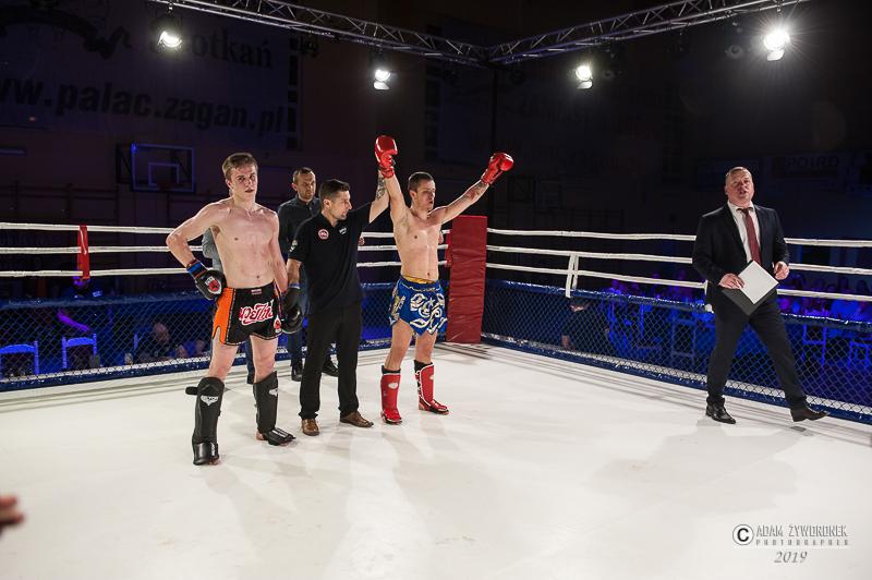Charytatywna Gala Sportów Walki Żagań 13.04.2019/walka11. Jakub Kiesiak ( Maku Gym Nowe Miasteczko) vs Kacper Stemplewski (Shidokan Jelenia Góra) K-1 -75 kg