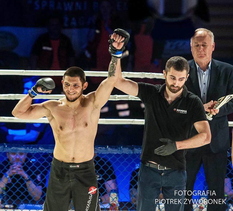 Charytatywna Gala Sportów Walki Żagań 13.04.2019 / walka 14 14.Ruslan Nebiev Ukraina ( Devil Poznań) vs Giorgi Museliani Gruzja (Malinowski Team Żagań) MMA -68 kg